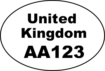 Example of oval identification mark: 'United Kingdom AA123'