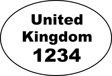 Example of oval health and identification mark: 'United Kingdom 1234'