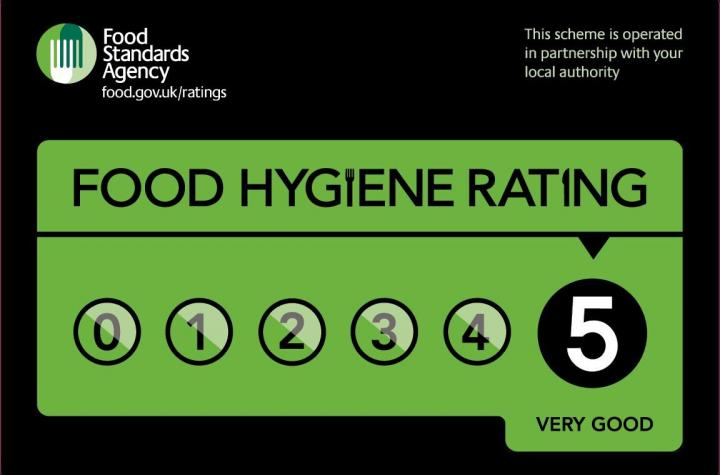 Image result for 5* food hygiene rating